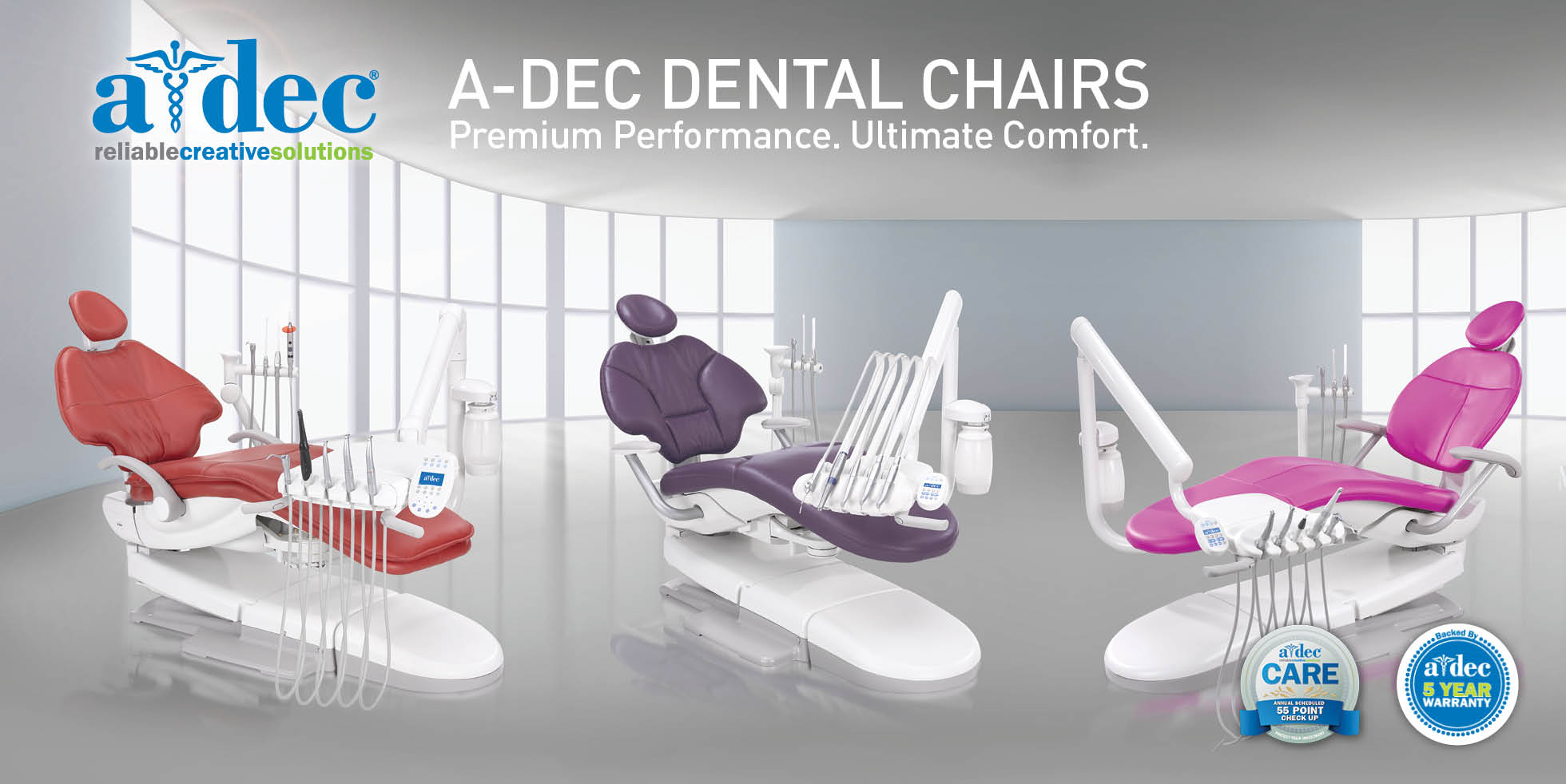A-Dec dental chairs
